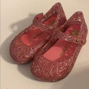 Mini Melissa campana pink glitter size 6 toddler